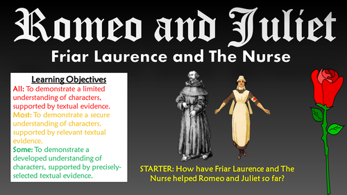 romeo and juliet friar laurence and the nurse by tandlguru romeo and juliet friar laurence and the nurse by tandlguru teaching resources tes