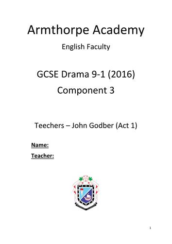 Teechers- John Godber, Work Booklet for Drama Students