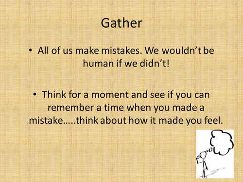Assembly on mistakes