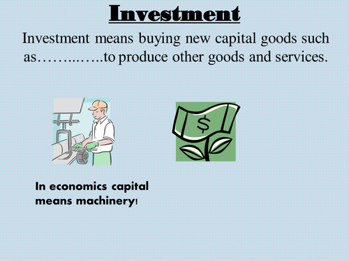 Investment for A Level Economics