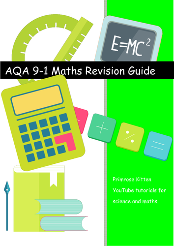 AQA  GCSE maths. 9-1 spec. Student friendly version of specification statements for revision
