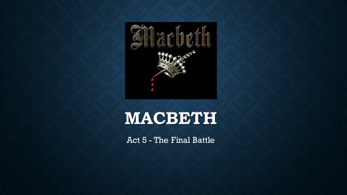 Full Scheme of work for Shakespeare's Macbeth - 9-1 new OCR GCSE style English Literature