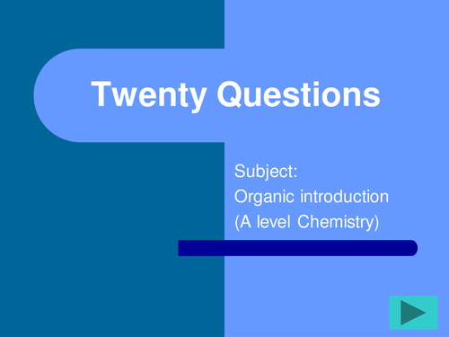 A level chemistry FUN and engaging revision activities -Topic -Introduction to Organic chemistry