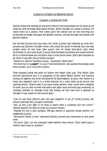 reading comprehension pdf year 6