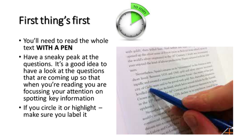 AQA English language paper 1 top tips - exam revision - GCSE 9-1