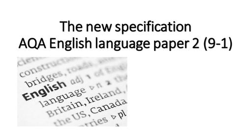 AQA English language paper 2 top tips - exam revision - GCSE 9-1