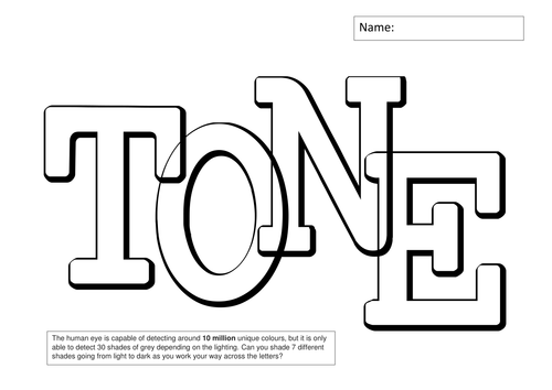 Tone Worksheets - teach drawing skills