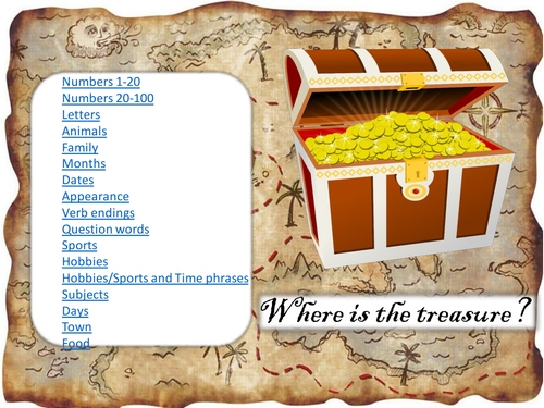 Vocabulary Treasure Hunt