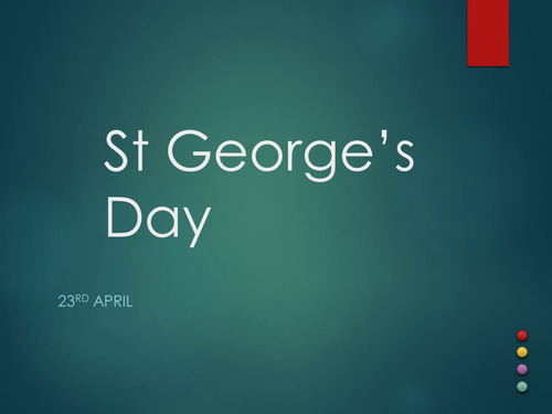 April 23rd 2017 is St George's Day. Fun quiz, ideal for form or part of lesson.