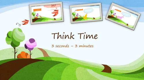 Think time - PowerPoint timer. 3 seconds - 1 minute