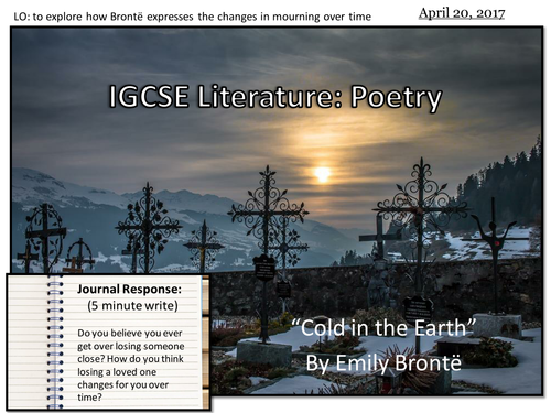 """Cold in the Earth"" (or ""Remembrance"") by Emily Bronte (IGCSE Literature)"