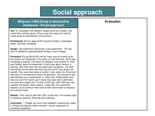 OCR H567 Psychology A level 10 AS Core Study revision cards