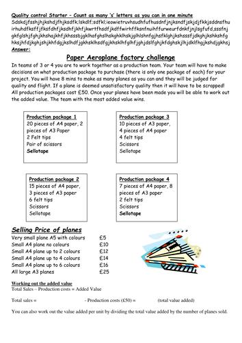 Paper Aeroplane Challenge!