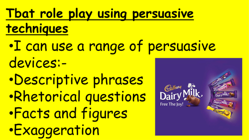 Persuasive adverts - Chocolate bars