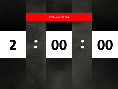 2 hour monolith powerpoint timer, count down clock. mock exams, controlled assessments.