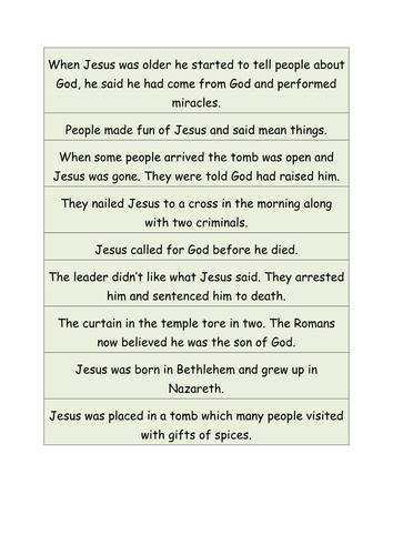 Easter Story Ordering