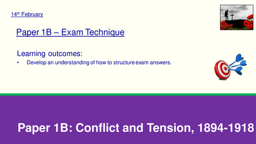 AQA GCSE History - Conflict and Tension 1894-1918 Revision