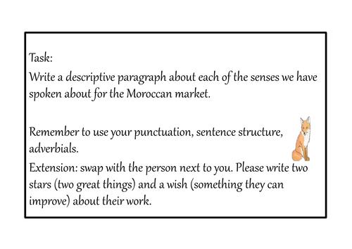 L.O - To use senses to create a description.