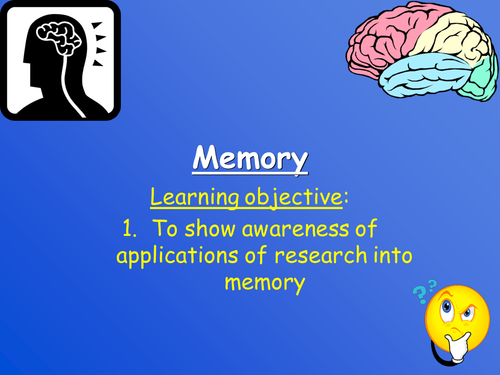 psychology coursework on memory This course will introduce you to the fundamental principles of psychology and to the major subjects of psychological inquiry it has been designed to not only provide you with the tools necessary for the study of psychology but to present you with a sampling of the major areas of psychology research.