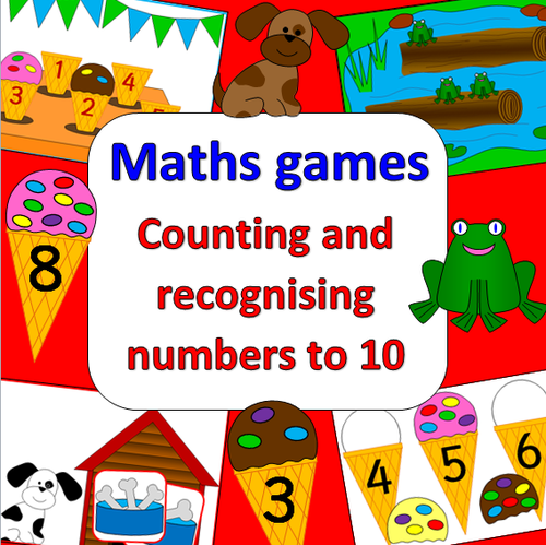 Maths Games- counting and recognising numbers