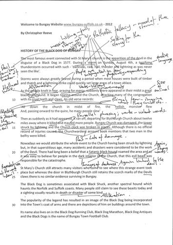 LAP scheme of work -  New OCR 9-1 GCSE English Language Paper 1 - Communicating Information & Ideas