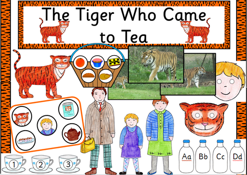 The Tiger who came to Tea story sack resources