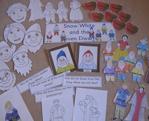 Snow White and the Seven Dwarfs story sack resources
