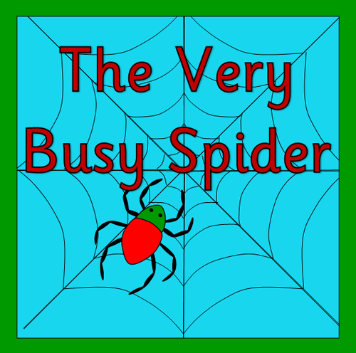 the very busy spider story sack pack by robbyn teaching resources