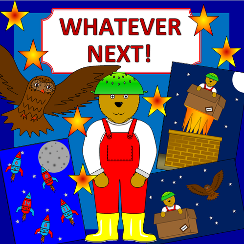 Whatever Next story sack resources