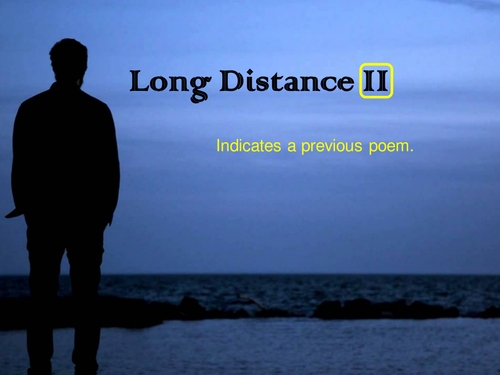 OCR GCSE J352/02 Literature Poetry (Love and Relationships) - 'Long Distance II' by Tony Harrison.