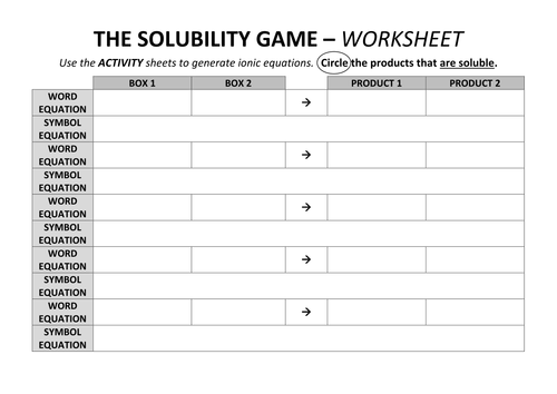 Science Materials Investigation on Brittle by lmtteacher – Solubility Rules Worksheet
