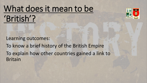 Lesson 1 - What does it mean to be British?