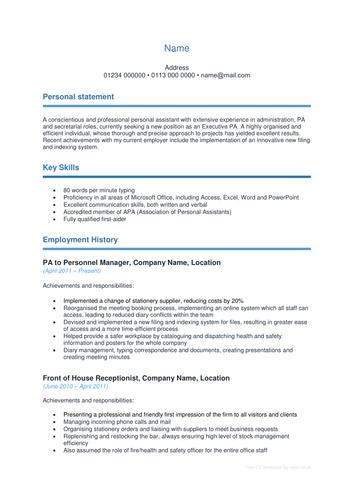 Blue teacher resume template with a cover letter teachers cv.