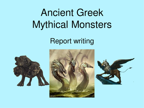 Ancient Greek Mythical Monster Report