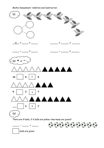 Year 1 Addition and Subtraction Problems