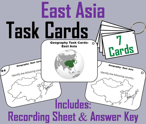East Asia Task Cards