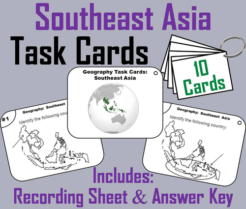 Southeast Asia Task Cards