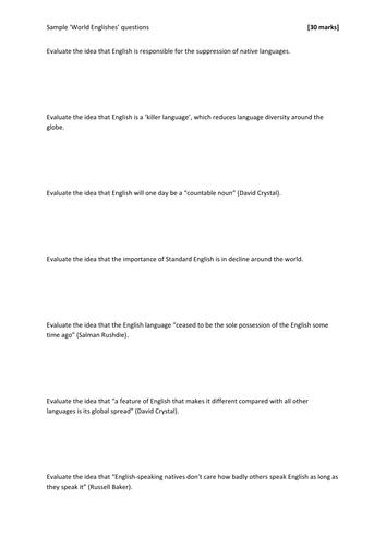 english as a world language essay