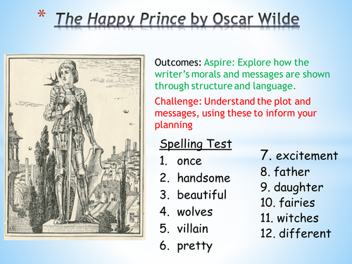 The Happy Prince - Oscar Wilde Reading Comprehension and Fairytale Structure