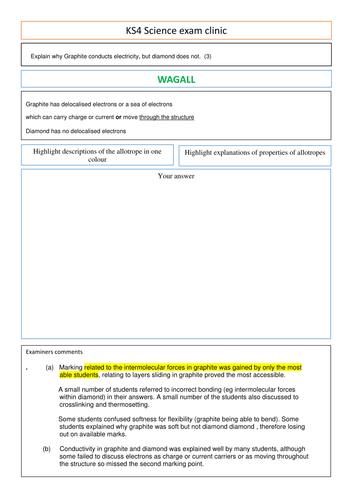 Introduction to the periodic table worksheet by wagall 6 mark questions on allotropes of carbon urtaz Images