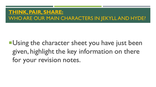 Jekyll and Hyde Revision Lessons for New Spec AQA English Lit Exam