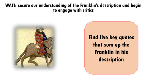 Chaucer : The Franklin's Tale : Analysis of his description