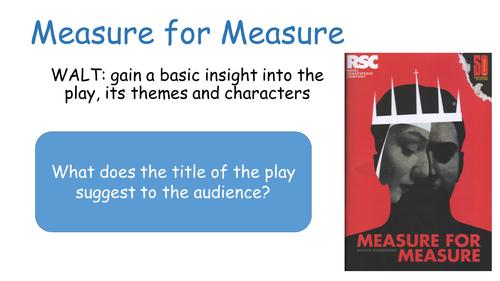 Measure for Measure : Shakespeare : Act 1, Scenes 1-4