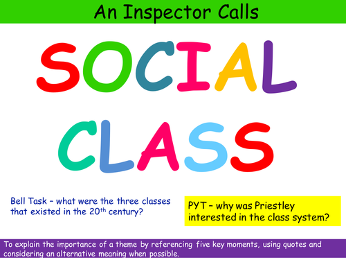 An Inspector Calls Social Class Theme