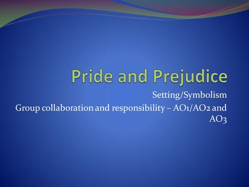 Gcse English Literaturepride And Prejudice Setting And Symbolism By