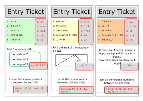 Mixed practice starter ENTRY TICKET