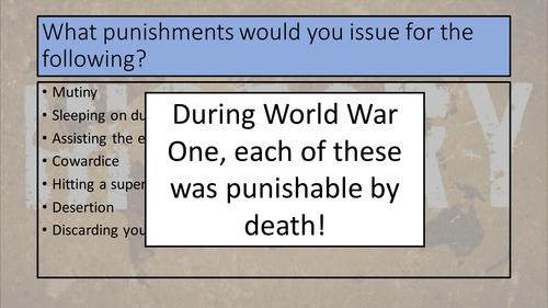World War One - Shot at Dawn