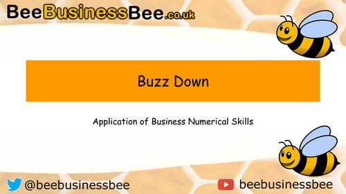 Business Finance Buzz Down (Independent Finance Activity)