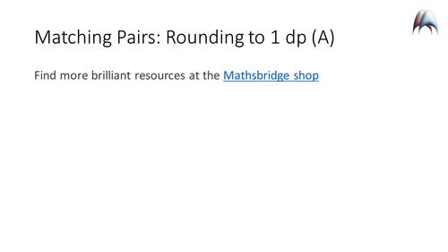 Matching Pairs - Rounding decimals