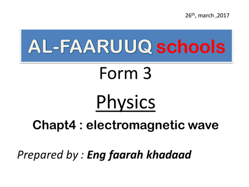 electromagnetic waves Secondary form 3